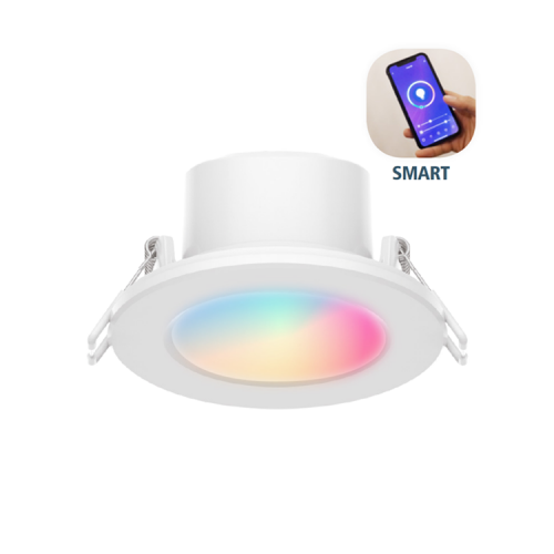 SMART-Einbaustrahler SPAS65-6W-RGBAW